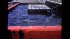 1962: water area is seen SAN PEDRO, CALIFORNIA Stock Footage