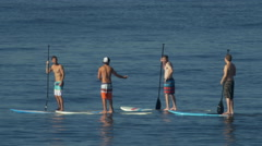 SUP stand-up paddleboarding Stock Footage