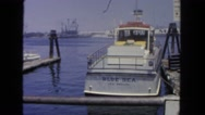 1962: port with boat SAN PEDRO, CALIFORNIA Stock Footage