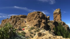 View of Roque Nublo Stock Footage
