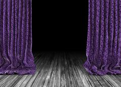 Old theater curtains background Piirros