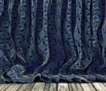 Vintage floral curtains background Piirros