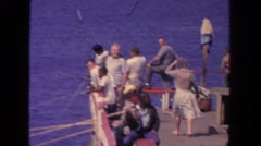 1962: offshore is best for serious fishing SAN PEDRO, CALIFORNIA Stock Footage