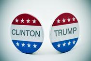 Clinton vs Trump Stock Photos
