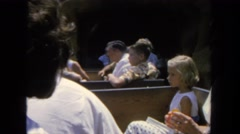 1962: picnic in forest area is seen SAN PEDRO, CALIFORNIA Stock Footage