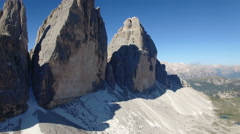 The famouse pikes in the Tre Cime Park Stock Footage