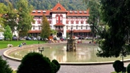Hotel Caraiman Is One Of The Largest And Oldest Hotels In Sinaia City Stock Footage