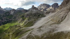 View on the pass Forcella di Toblin Stock Footage