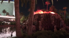 Vulcano The Mirage Las Vegas Stock Footage