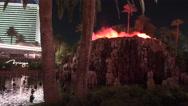 Vulcano The Mirage Las Vegas Stock Footage