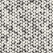 Vector Seamless Black and White Random Size Triangles Grid Pattern Piirros