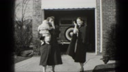 1947: woman with her baby and mother MIDDLETOWN Stock Footage