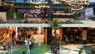 Timelapse Of People Crowd Rush For Shopping In Luxury Mall Interior Stock Footage