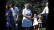 1947: family is seen going on trip with small child MIDDLETOWN Stock Footage