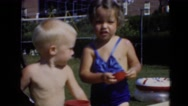 1947: swimming scene MIDDLETOWN Stock Footage