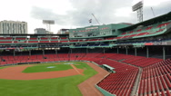Inside view of Boston's Fenway Park. It is the oldest ballpark in MLB in Boston. Stock Footage