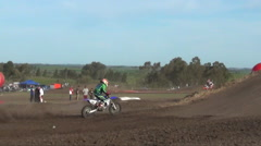 Men racing in a motocross motor sports race. Stock Footage