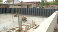 Building construction, concreting and polishing by Sheyno. Stock Footage