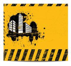 Working building banner Stock Illustration
