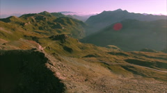 Morning in the Alps, High Tauern Stock Footage