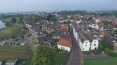 Aerial historical city,Muiden,Netherlands Stock Footage