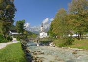 Bavaria Berchtesgaden National Park Ramsau St. Sebastian Church Stock Photos