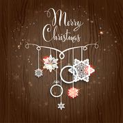 Holiday Christmas card Stock Illustration