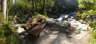 Bavaria Berchtesgaden National Park Ramsau Nature learning trail river Ache Stock Photos