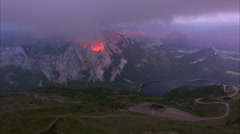 Alps in the evening Stock Footage