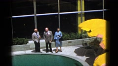 1953: people are seen performing an act inside an area BOSTON Stock Footage