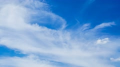 Blue sky and liner cloud slow move pass Stock Footage