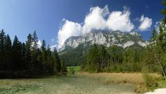 Bavaria Berchtesgaden National Park Ramsau Hindersee lake Europe Germany Stock Photos