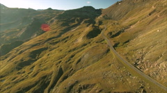 Grossglockner mountain pass in the Alps Stock Footage