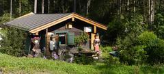 Bavaria Berchtesgaden National Park Ramsau Nature learning trail Imbiss Europ Stock Photos