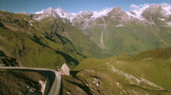 Viewpoint on the top of Grossglockner mountain pass in the Alps Stock Footage