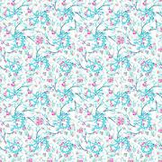 Intricate Floral Collage Seamless Pattern Stock Illustration