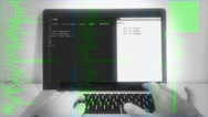 Coding In Cyberspace, Hand Typing On Laptop Stock Footage