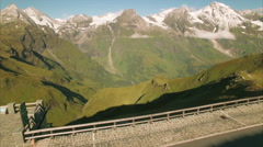 Highest mountains of Austria, Grossglockner pass Stock Footage