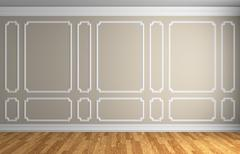 Beige wall in classic style room Stock Illustration