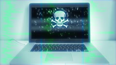 Computer Malware Hacks Source Code Stock Footage