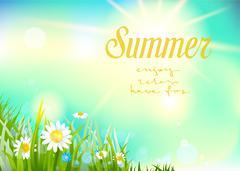 Sunny summer background Stock Illustration
