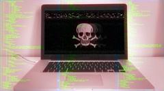 Computer Virus Hacking Source Code Stock Footage