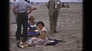 1953: beach scene is seen CALIFORNIA Stock Footage