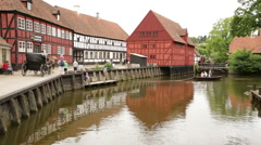 Wide shoot of scene in the Old town Stock Footage