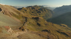 Panorama of High Tauern mountains in the Alps Stock Footage
