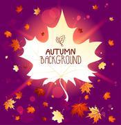 Wonderful autumn background Stock Illustration