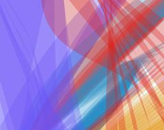 Colorful abstract vector background banner, transparent wave lines shapes Stock Illustration