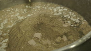 Bowl with dough in old bakery Stock Footage