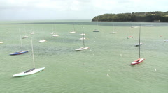 Small boats Cowes IOW Stock Footage