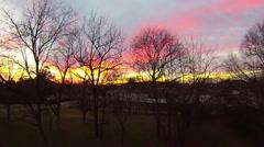 Beautiful sunset and sunrise footage over york south carolina Stock Footage